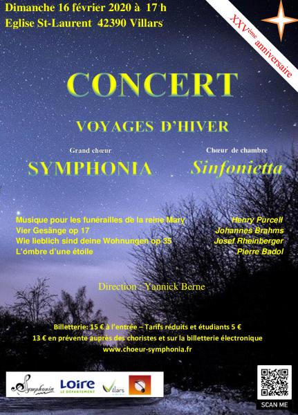 Concert du 16 février 2020 à Villars